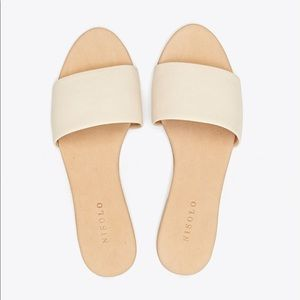 NISOLO Isla Slide Sandal in Bone US 7.5